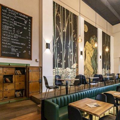 Nové secesní tapety Fantovy kavárny
