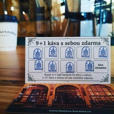 Věrnostní karta ve Fantově kavárně